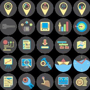 Use ícones em seus materiais de comunicação